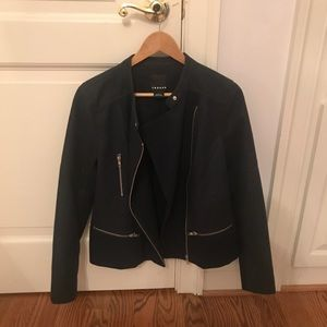 Trouvé navy blue moto jacket